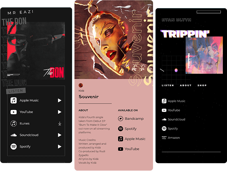 amplify.link music smart link pages